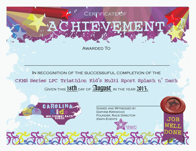 Carolina Kids laelalon – Certificate of Achievement for Kids